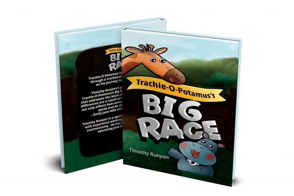 Tracheostomy Children's book Trachie-o-potamus's Big Race in Hardcover