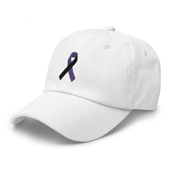 tracheostomy awareness hat with ribbon