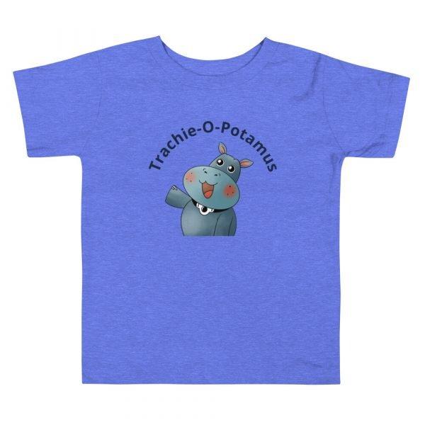 tracheostomy awareness shirt trahie-o-potamus toddler tshirt