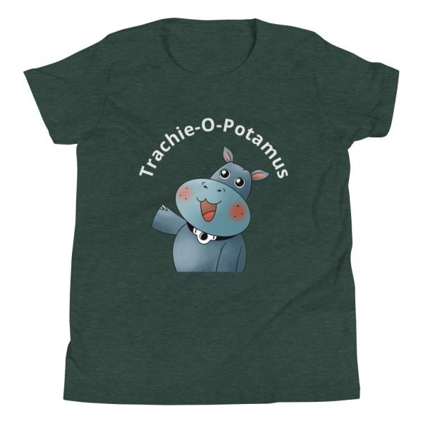 tracheostomy tshirt tracheostomy awareness tshirt trachie-o-potamus kids