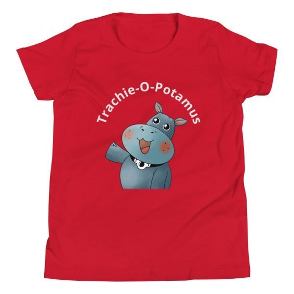 tracheostomy tshirt tracheostomy awareness tshirt trachie-o-potamus kids in red