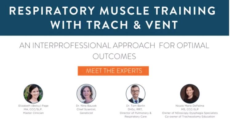Respiratory muscle strength training tracheostomy webinar
